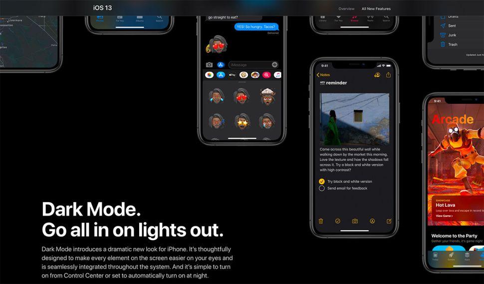 Dark mode IOS