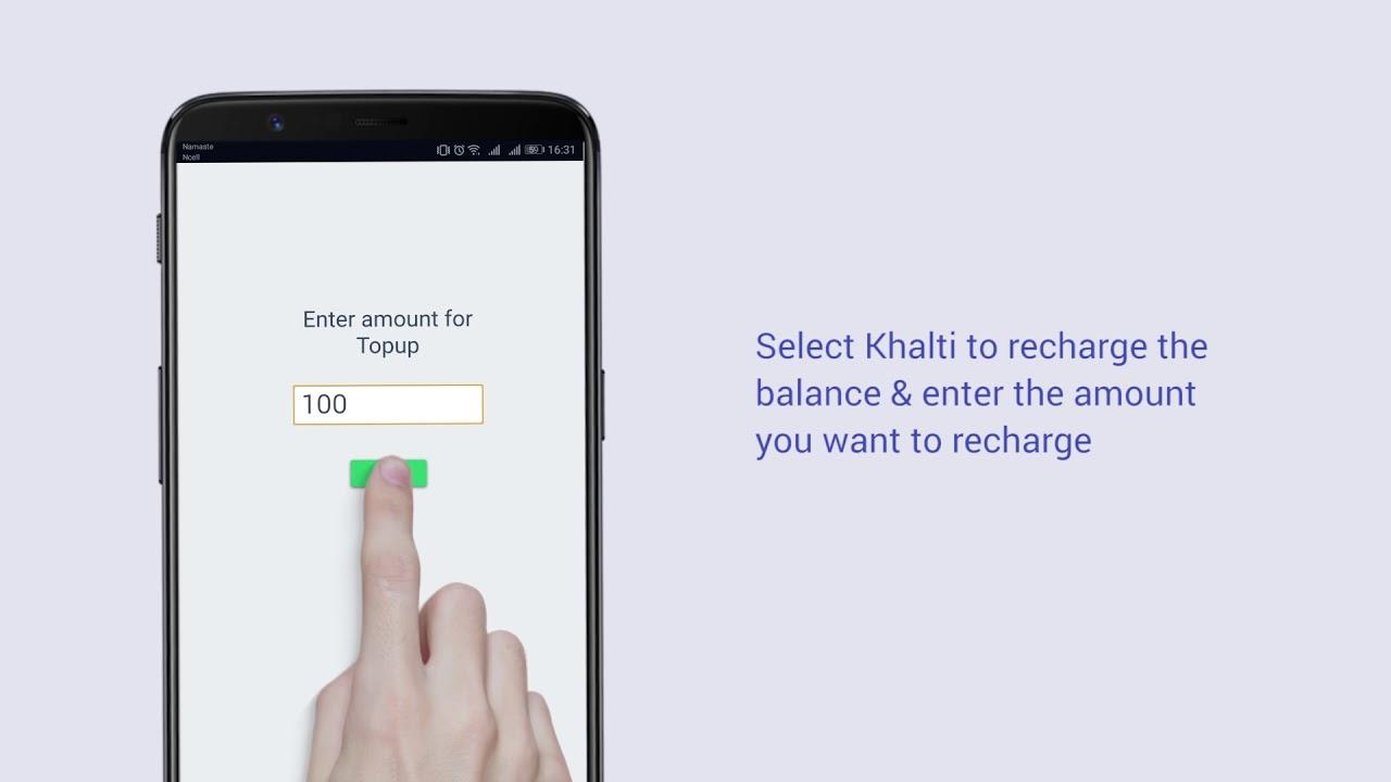 recharge online khalti