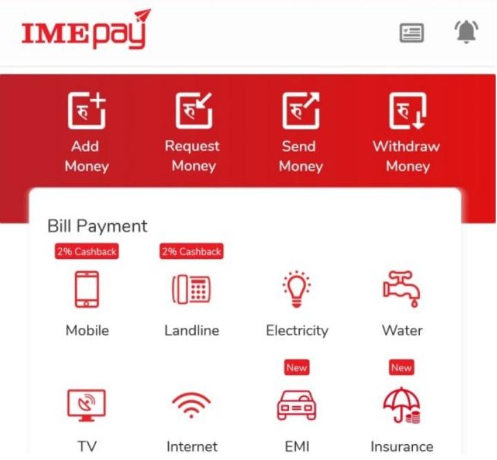 recharge using imepay
