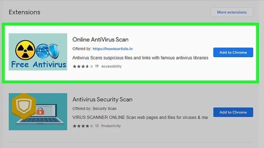 antivirus extensions