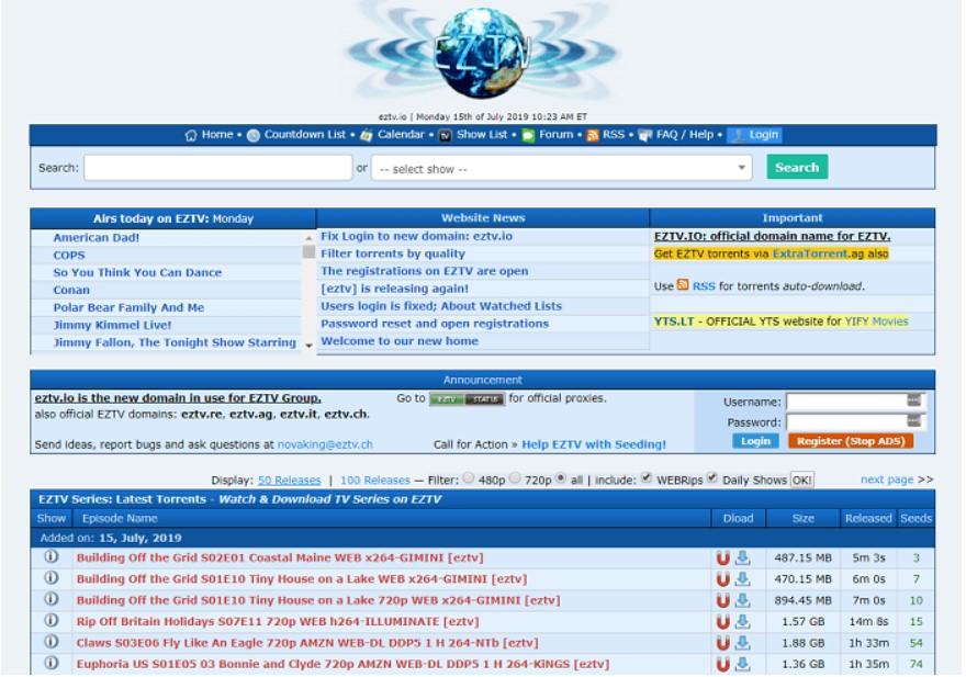 EZTV Torrent sites