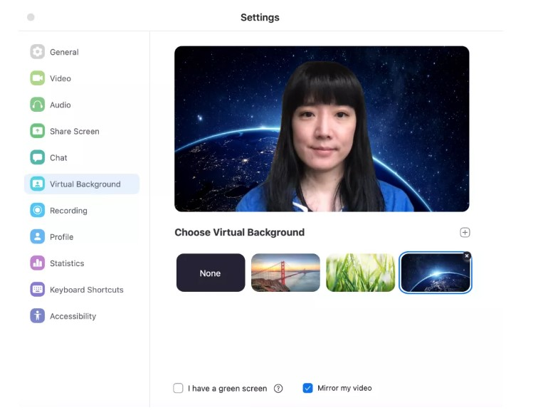 virtual background in zoom
