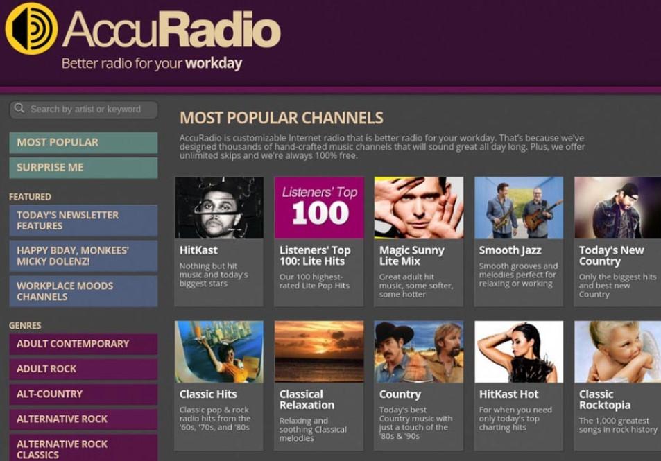 accuradio unblocked music site