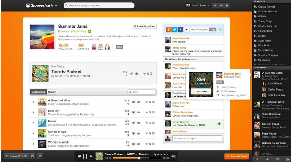 grooveshark unblocked music site