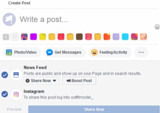 Cross-Post to Instagram From Facebook