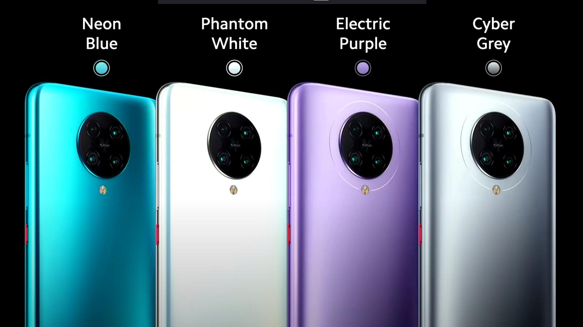 poco f2 pro phone color options