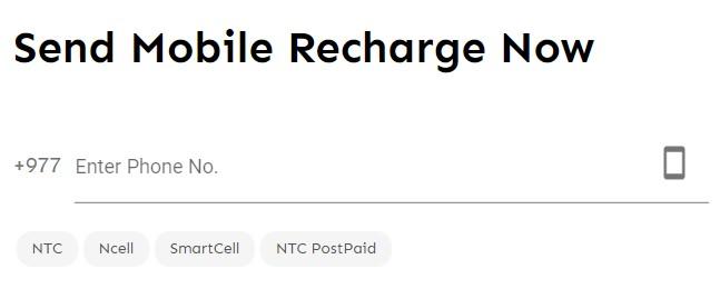 hamro recharge number