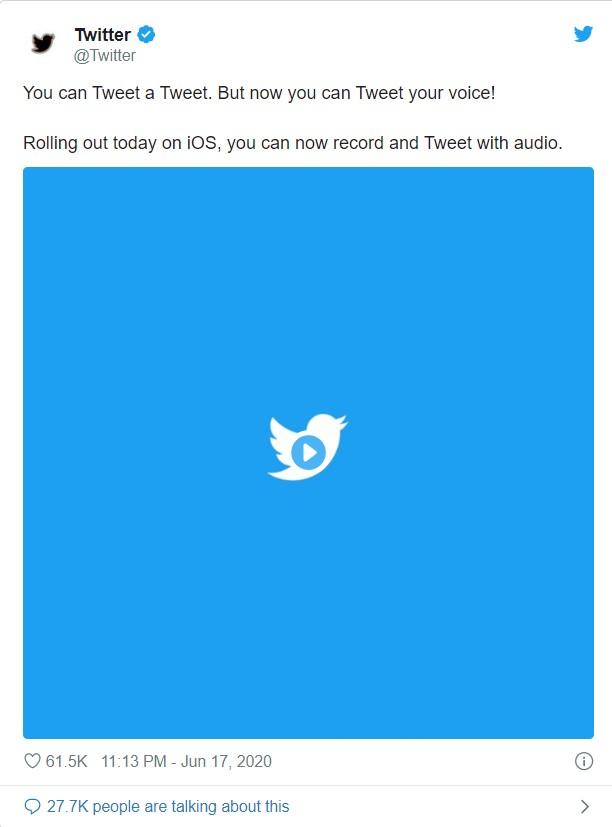 twitter voice message