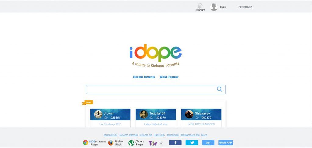 iDope Pirate Bay alternatives