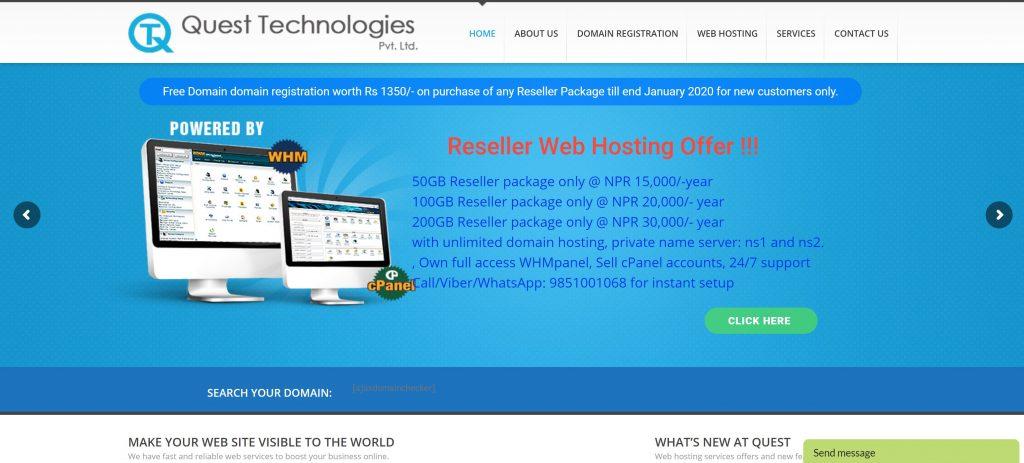 Quest Technologies web hosting