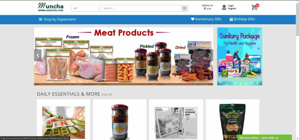 Muncha online shopping sites in Nepal