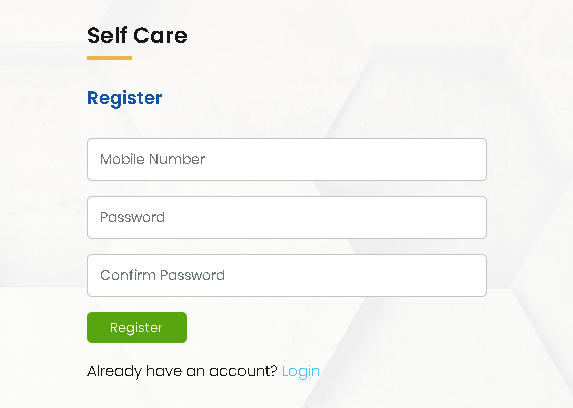 NT Web Self Care register
