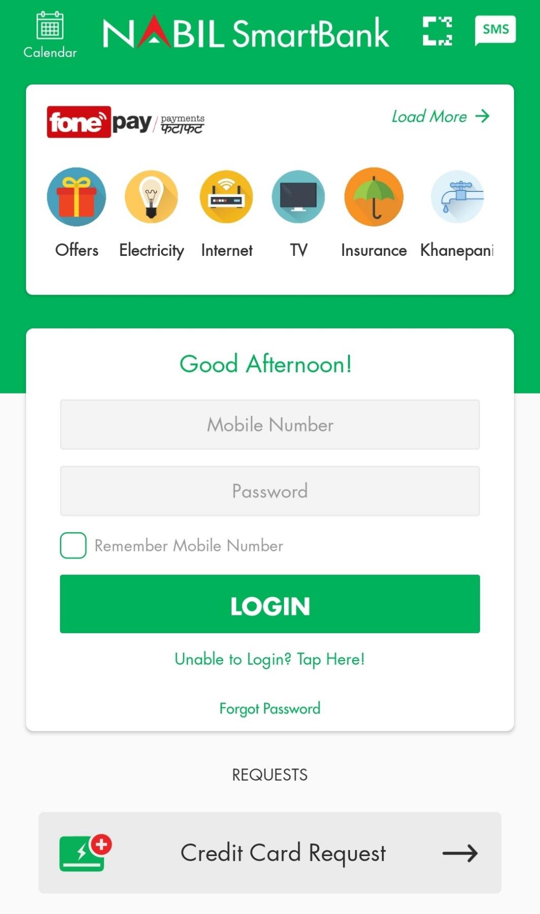 Nabil Smart Bank login