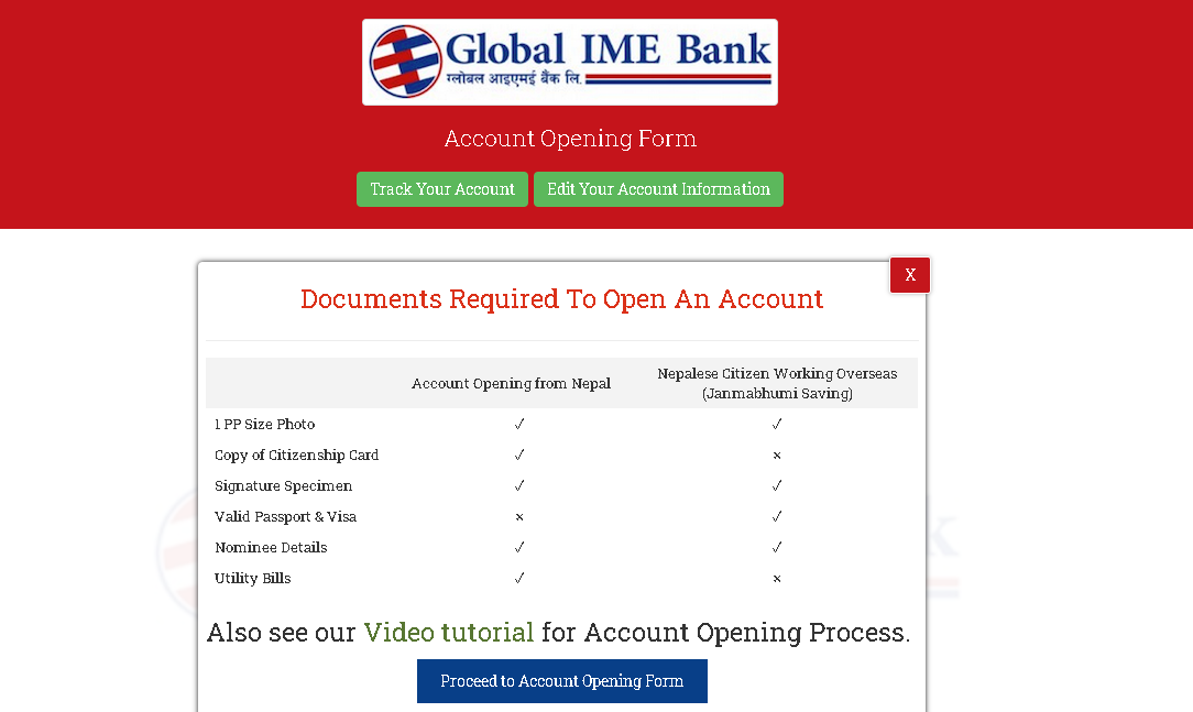 Global IME bank account online first