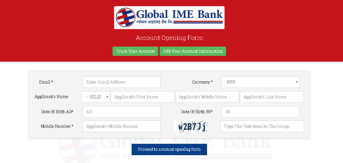 Global IME bank account online form