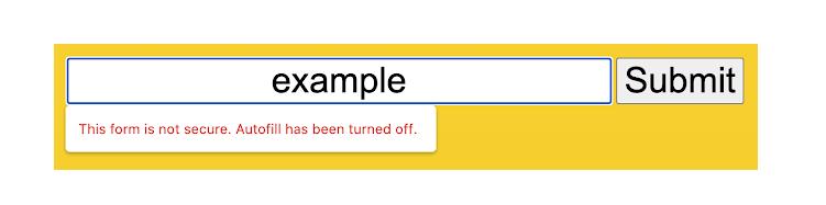 Google Chrome 86 first warning