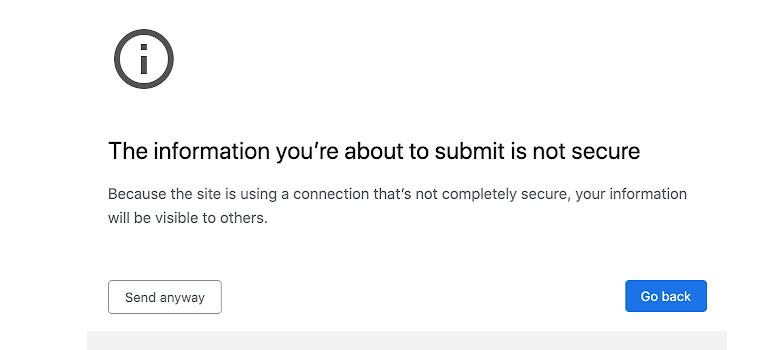 Google Chrome 86 2nd warning