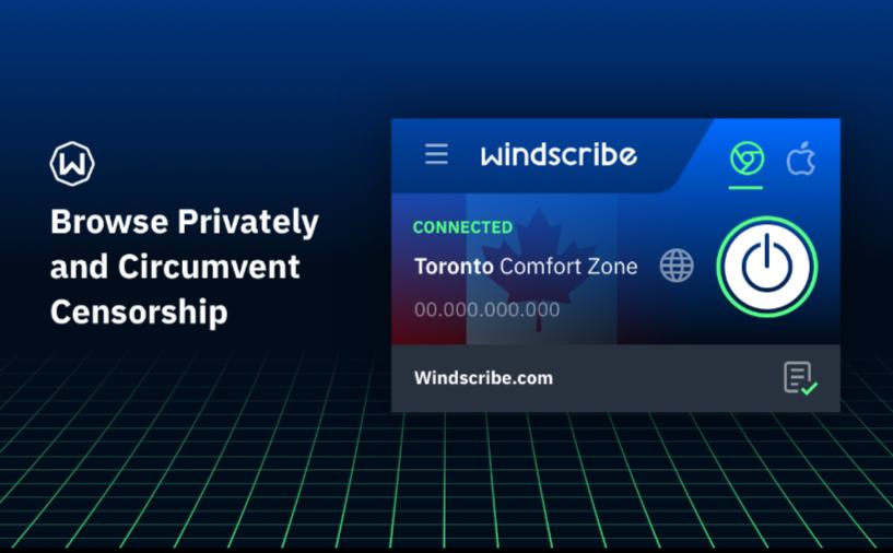 Windscribe Best VPN Firefox Extensions