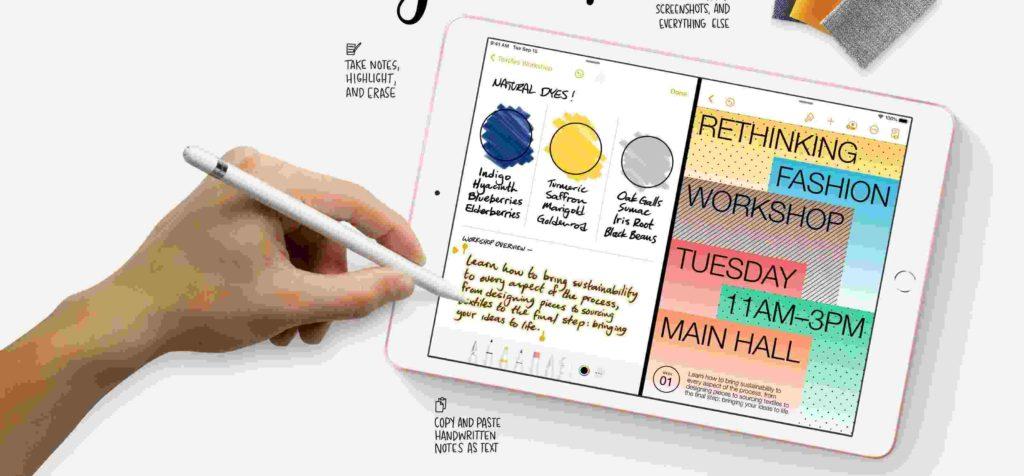 iPad 10.2 handwritten text input