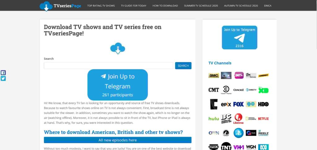 TV series page download series for free