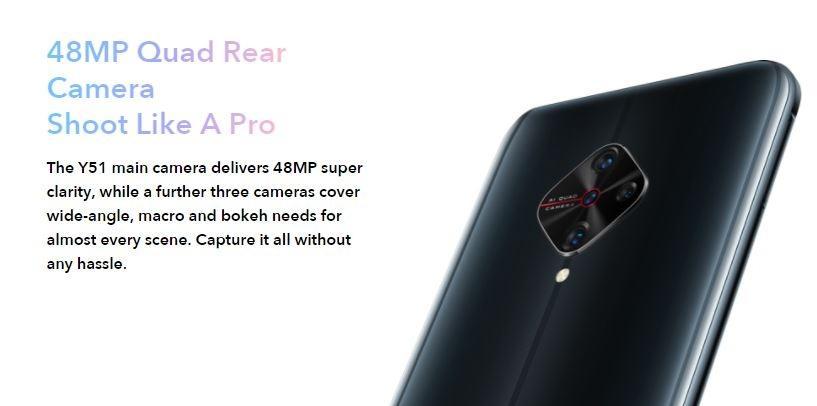 Vivo Y51 2020 camera