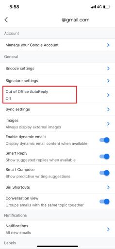 gmail auto reply setup