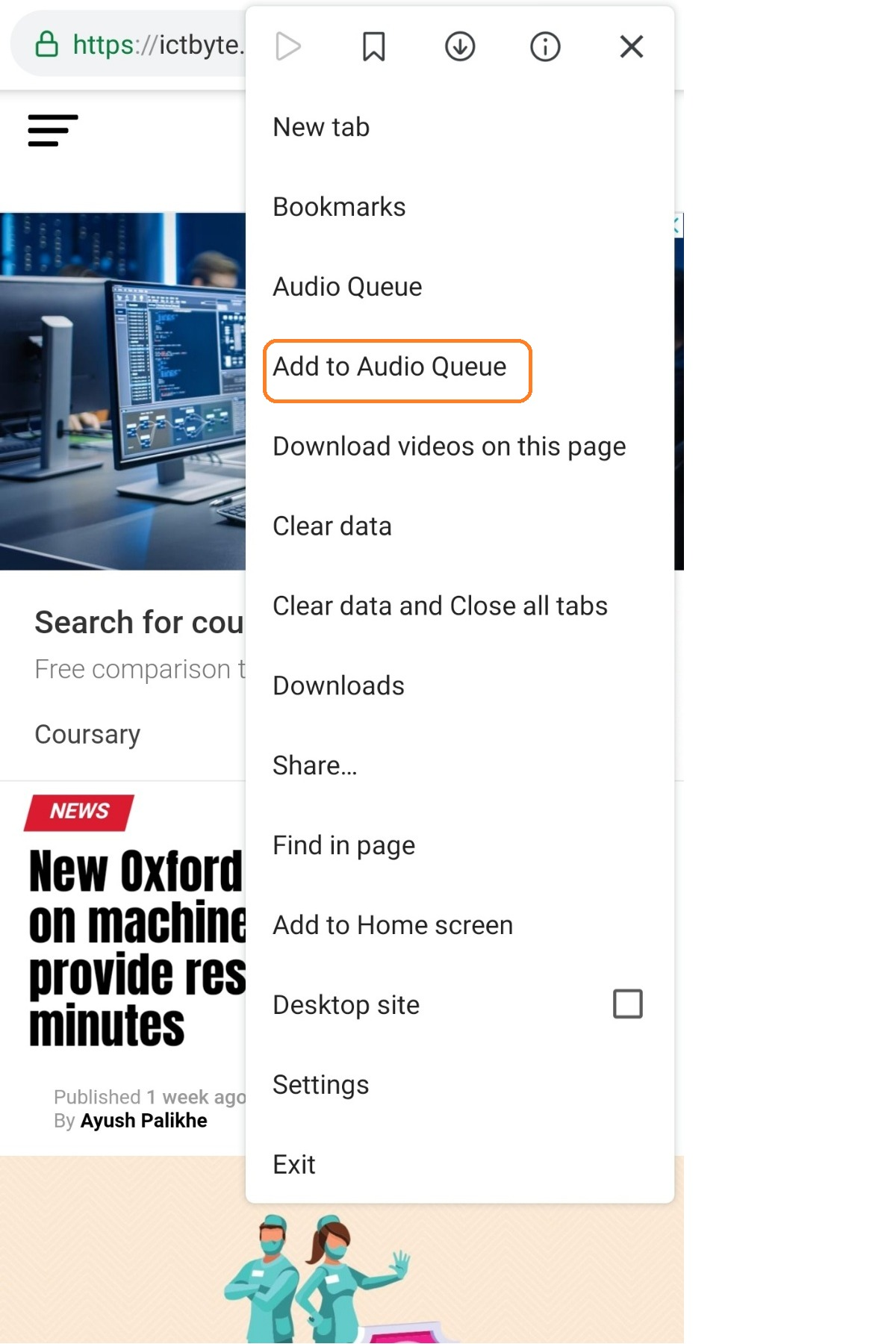 convert any article into audio on android