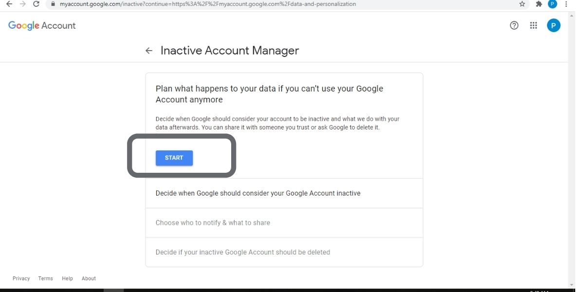 delete your google account after you die
