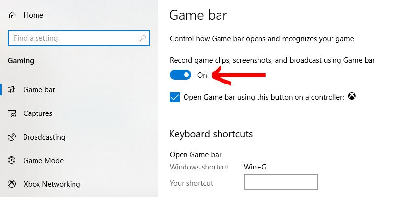 Record Screen in Windows 10