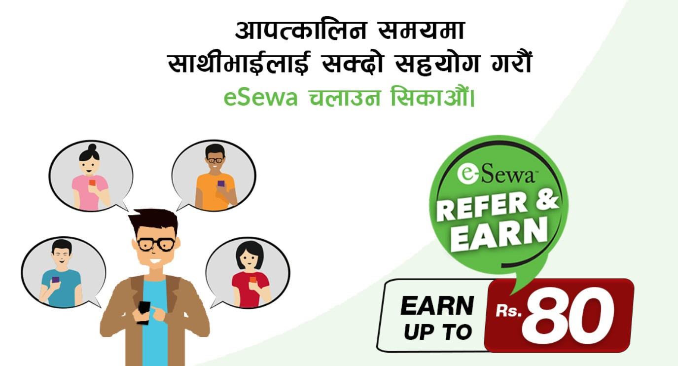 refer and earn esewa