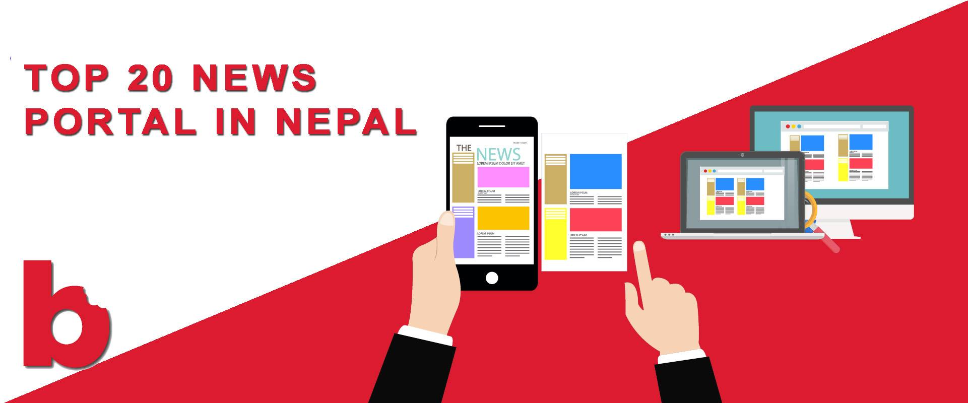 top 20 news portals in nepal