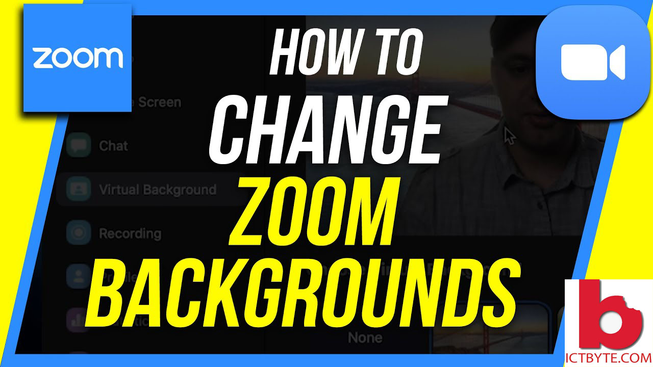 how to change zoom backgrounds