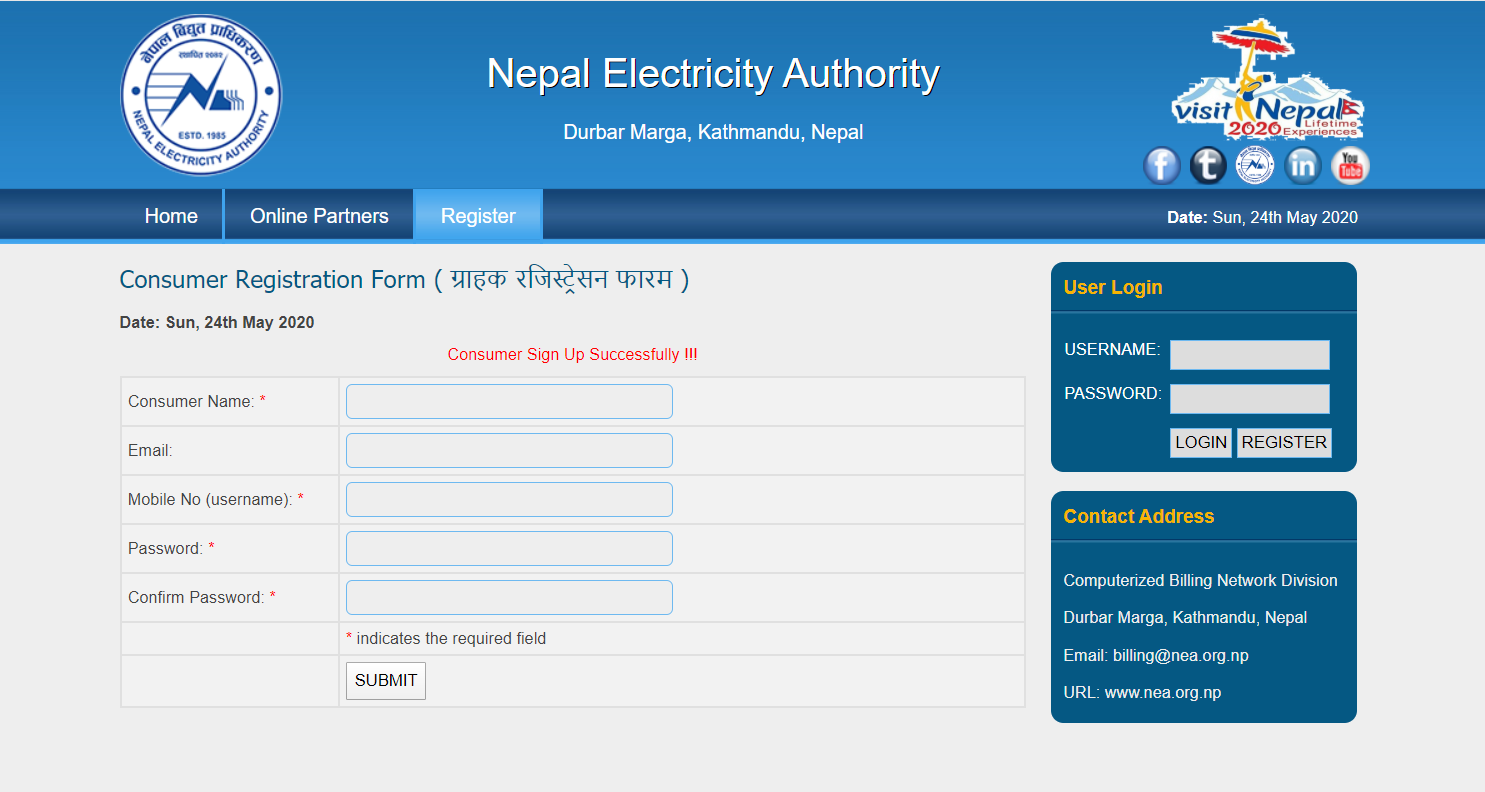 electricity bill online