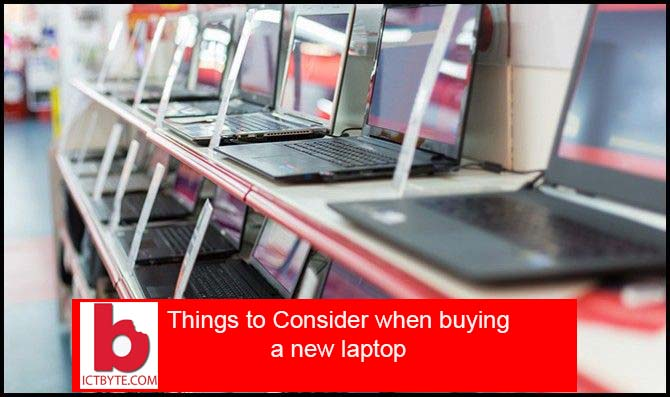consider when buying a laptop