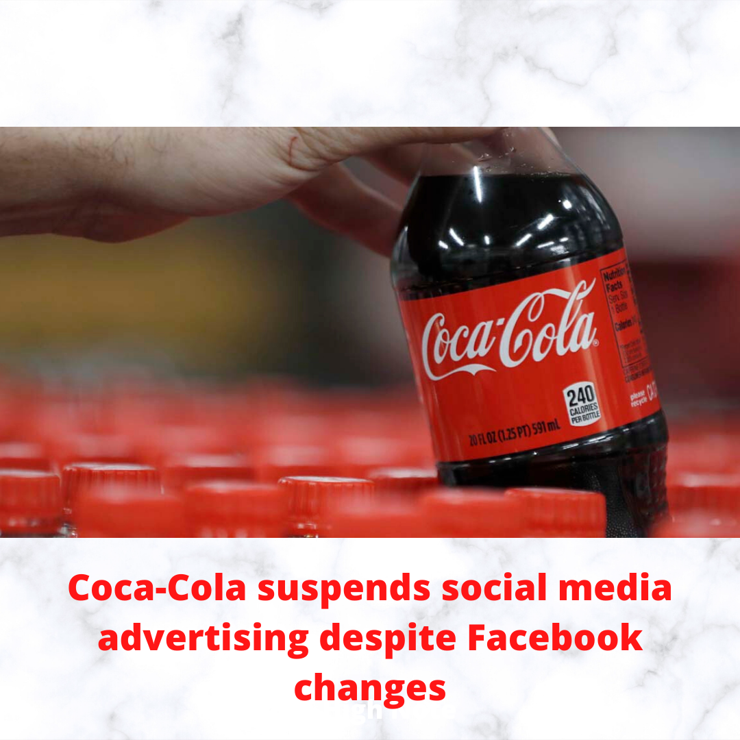 coca cola suspends facebook