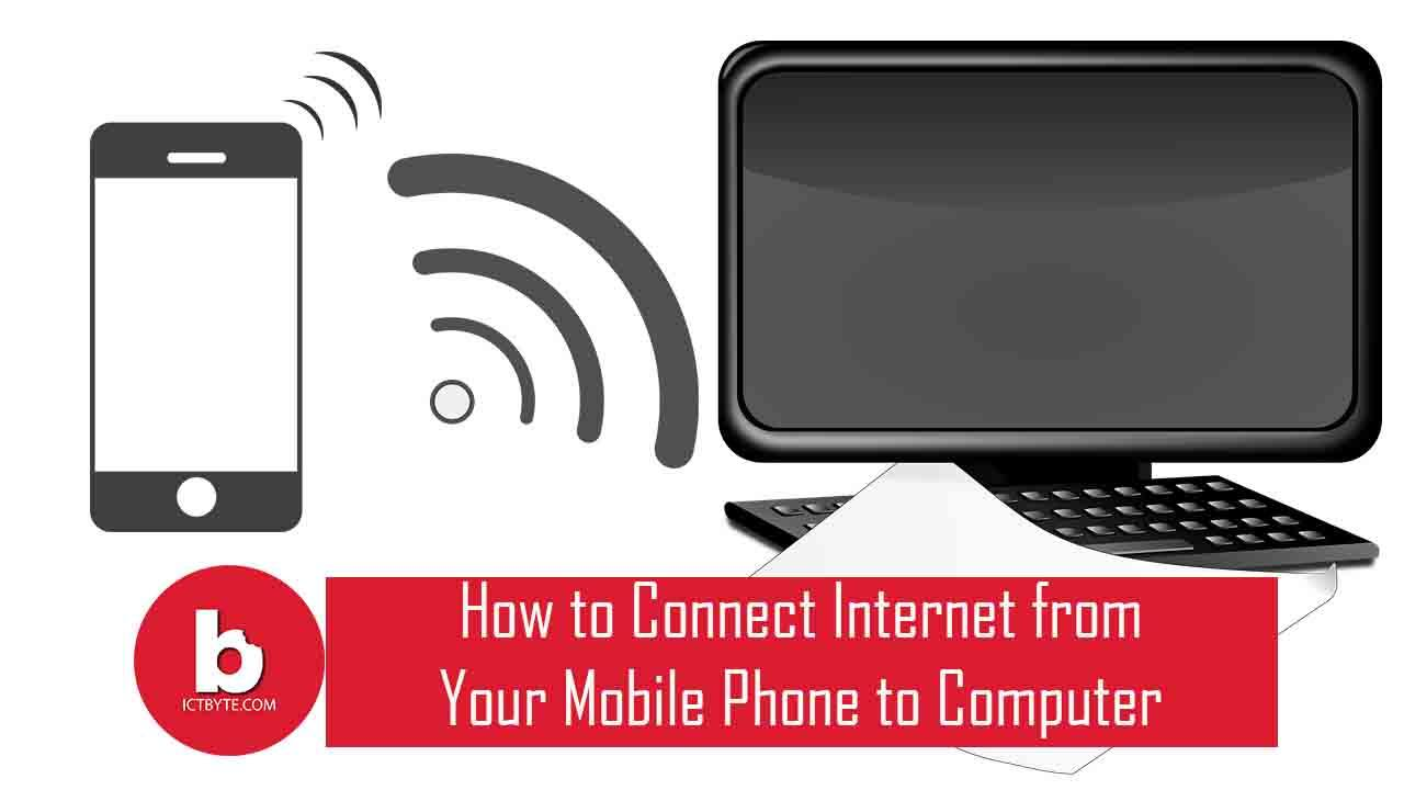 connect internet from mobile to computer