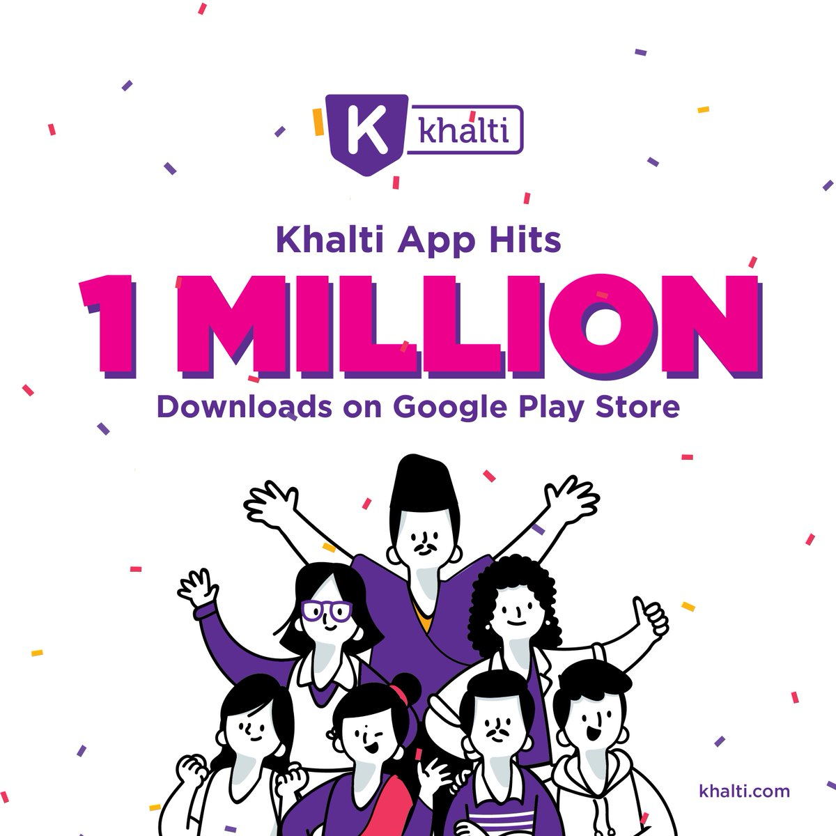 khalti one million downloads