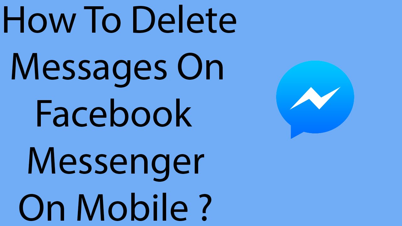 delete messages on messenger
