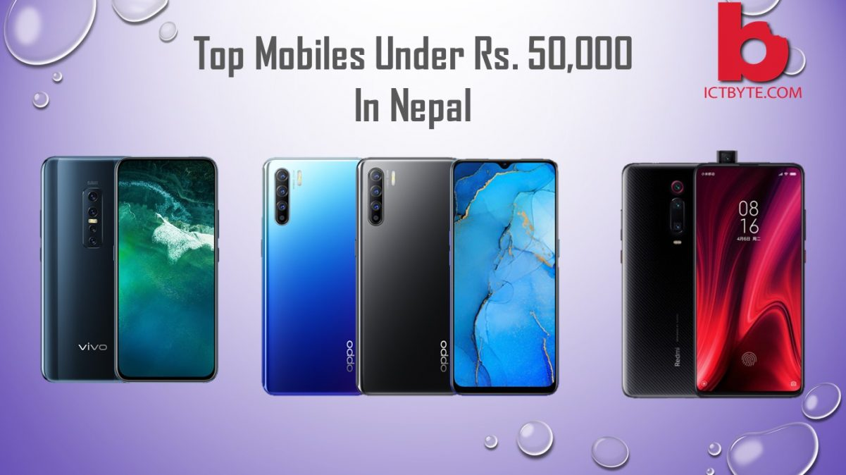 Top mobiles under Rs 50,000 in Nepal
