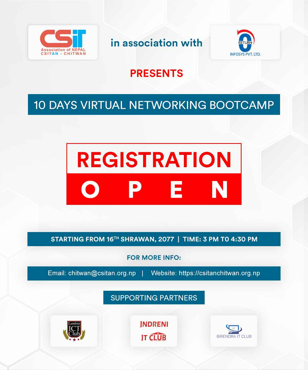 10 Days virtual networking bootcamp