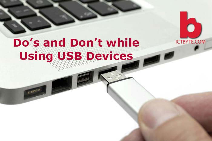 do and donts while using USB