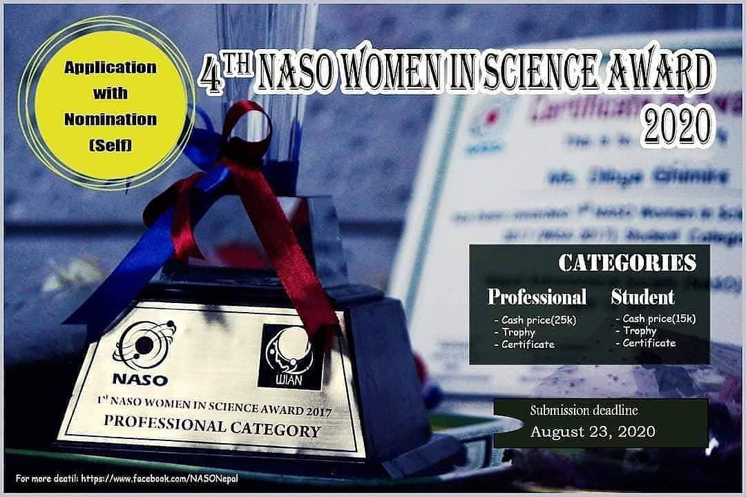 4th Women in Science Award 2020
