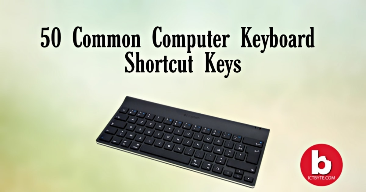 Computer Keyboard Shortcut Keys 50 list