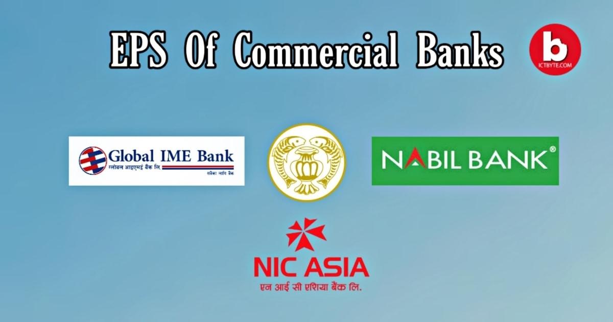 Earnings per share (EPS) of 27 commercial banks in Nepal