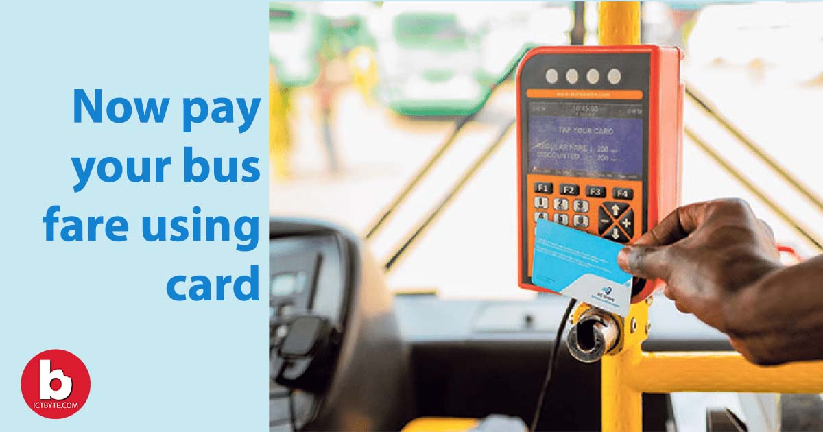 pay bus fare using card