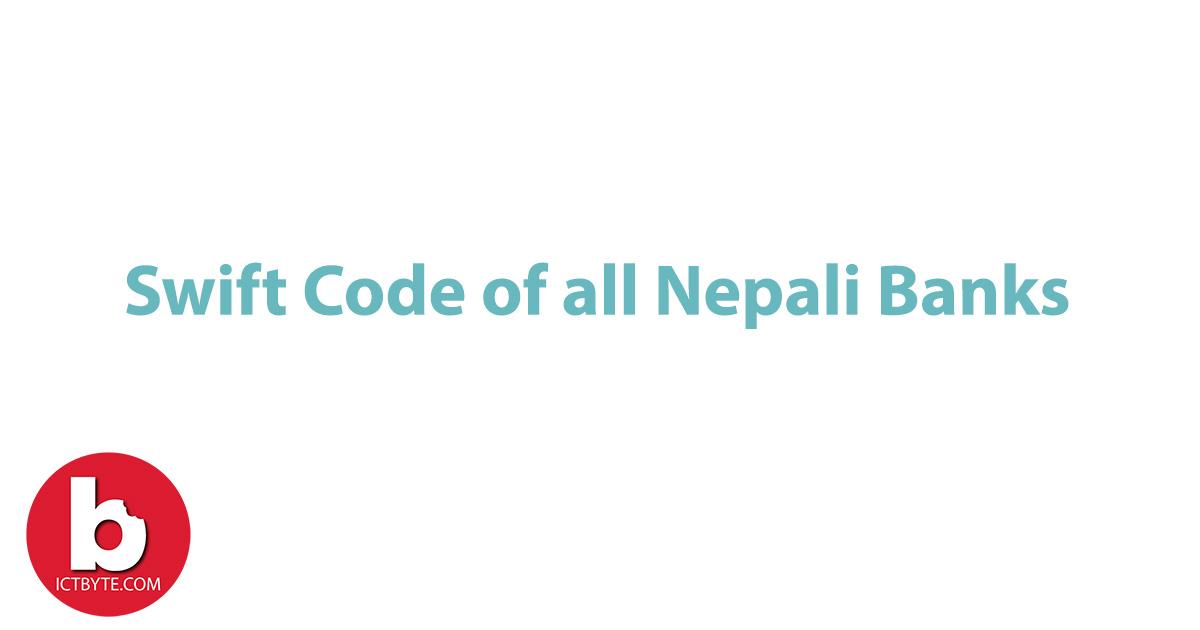 Swift code of all Nepali Banks