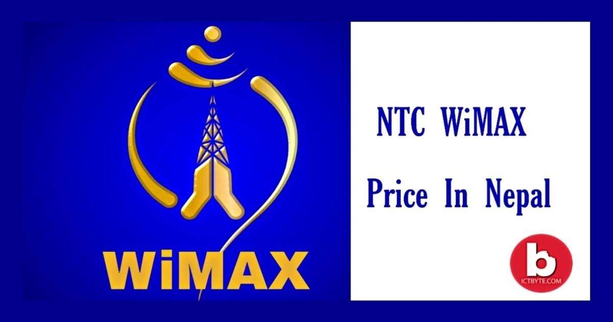 NTC WiMAX 2020 price in Nepal