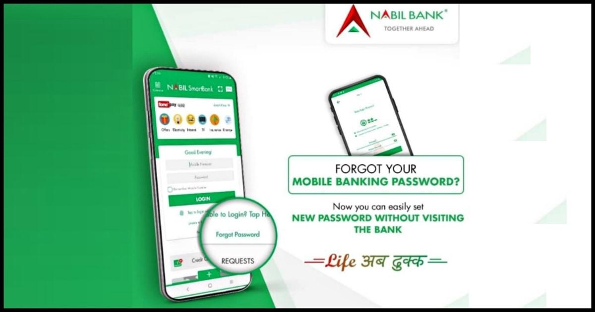 Nabil Smart Bank what do when forgot password