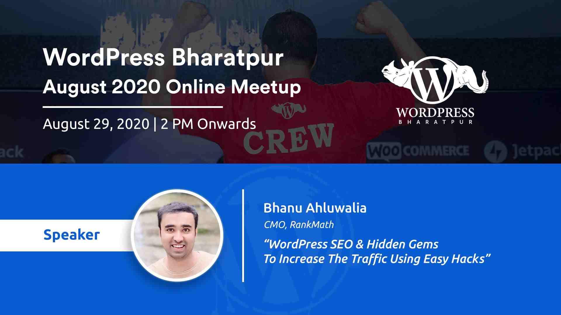 WordPress Bharatpur August 2020 Meetup