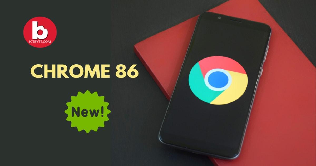 google Chrome 86 new